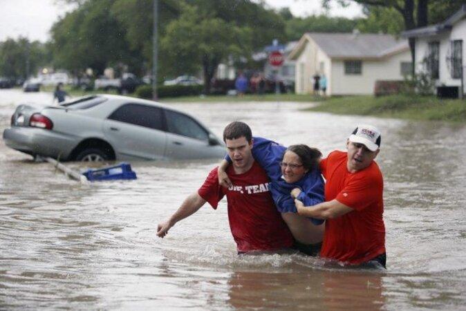Inondations... à San Antonio