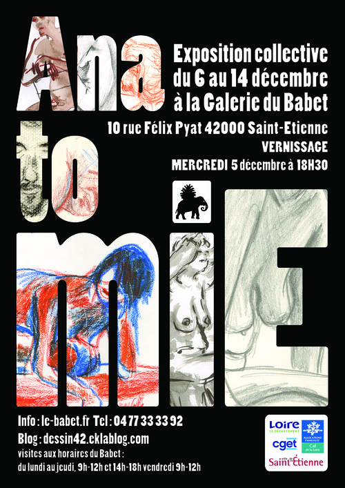 L'affiche pour l'expo à la galerie du Babet en exvlusivité !!!