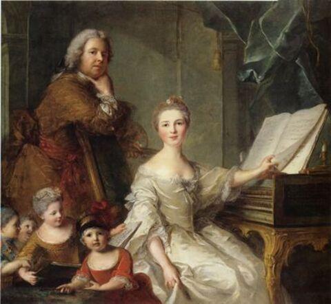 Jean-Marc Nattier et sa famille - Nattier