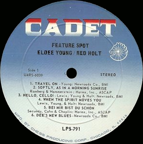 "Eldee Young & Red Holt : Album : "" Feature Spot "" Cadet Records LPS 791 [ US ]"