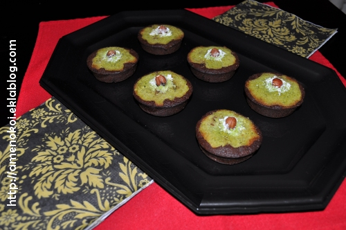 Financiers choco matcha