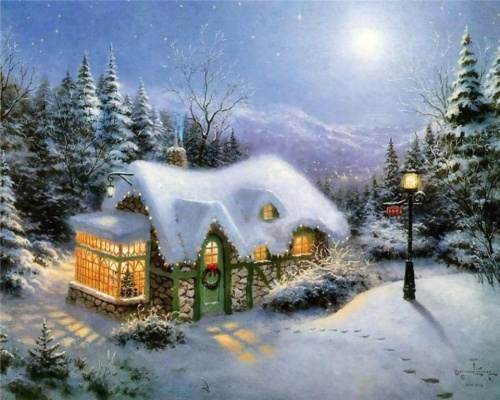 Joli Paysage De Noël Coeur D Emeraude