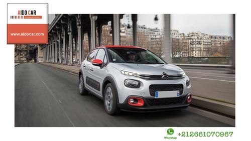 Location de voiture citadine à Casablanca – La Citroën c3 Red Edition