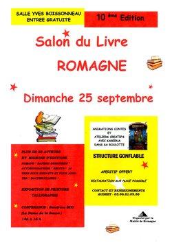 Salon du livre de Romagne - 25 septembre 2016