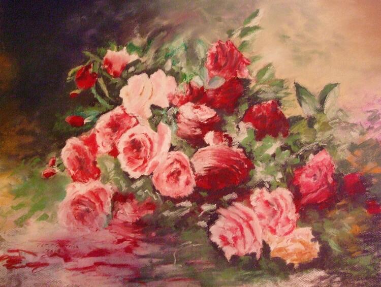 Roses au sol