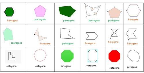 Polygones : activités de tri avec ou sans boîte à compter