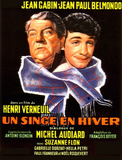 UN SINGE EN HIVER - BOX OFFICE JEAN GABIN 1962