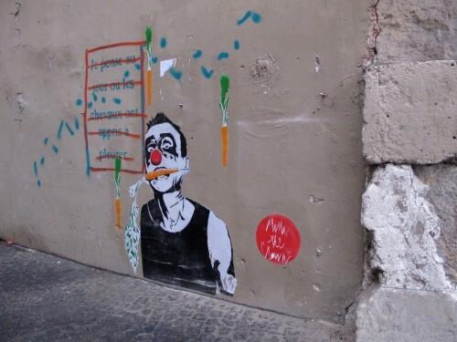 street-art chevaux clown Beaubourg 7580