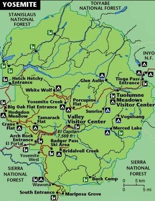carte de Yosemite