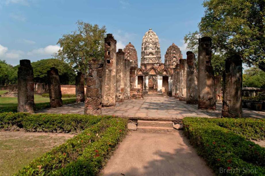 WAT SI SAWAI Sukhothaî - L'entrée Sud