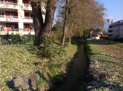 la ville de Cognin - le canal