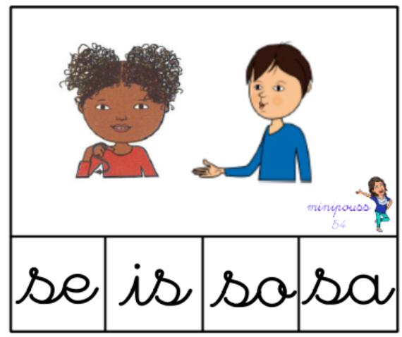 Cartes à pinces Geste BM / syllabes