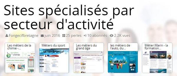 Sites spécialisés par secteur d'activité par Fongecif Bretagne