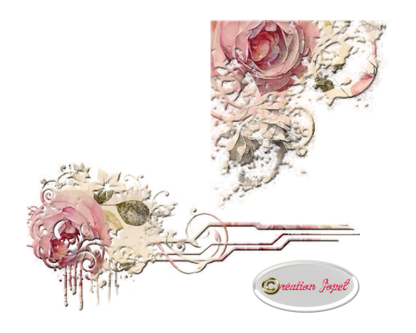 Kit fleuri rose tendre par Jopel