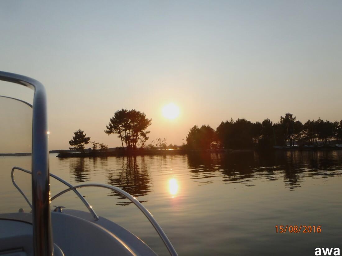 Coucher de soleil, en aout 2016