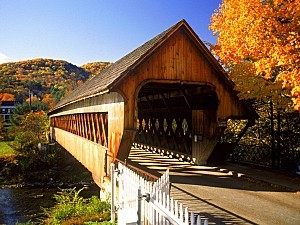 Covered Bridge Woodstrock Vermont Fall