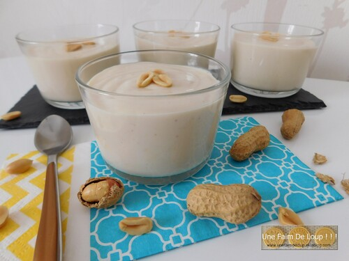 Crème dessert au beurre de cacahuète