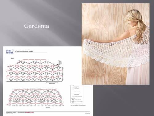 Gardénia :  Echarpe au crochet