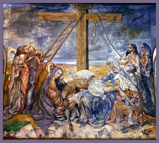 chapelle foujita la descente de croix