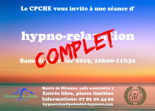 hypnorelaxation à Divonne le 9 février
