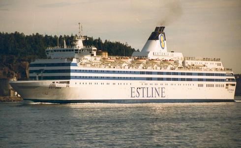 L'Estonia, le ferry reliant la ville de Tallinn, en Estonie, à Stockholm.