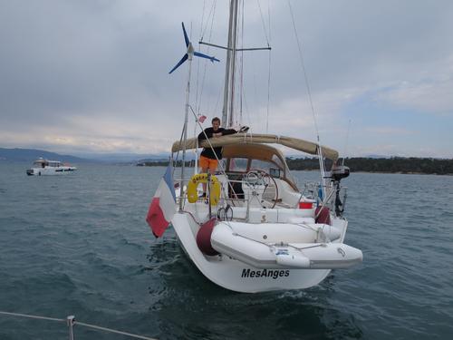 Première sortie aux îles avec l'éolienne