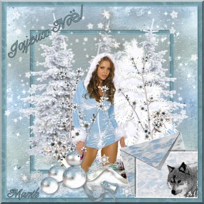Cadre de Manola et joyeux Noël