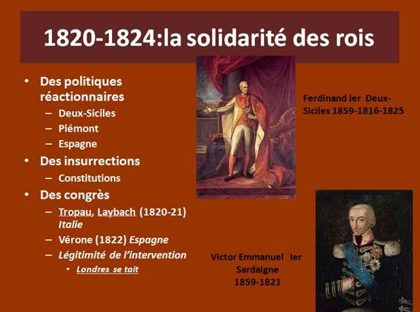 """L'Europe de la Sainte Alliance (1815-1855)"" une conférence de Robert Fries"