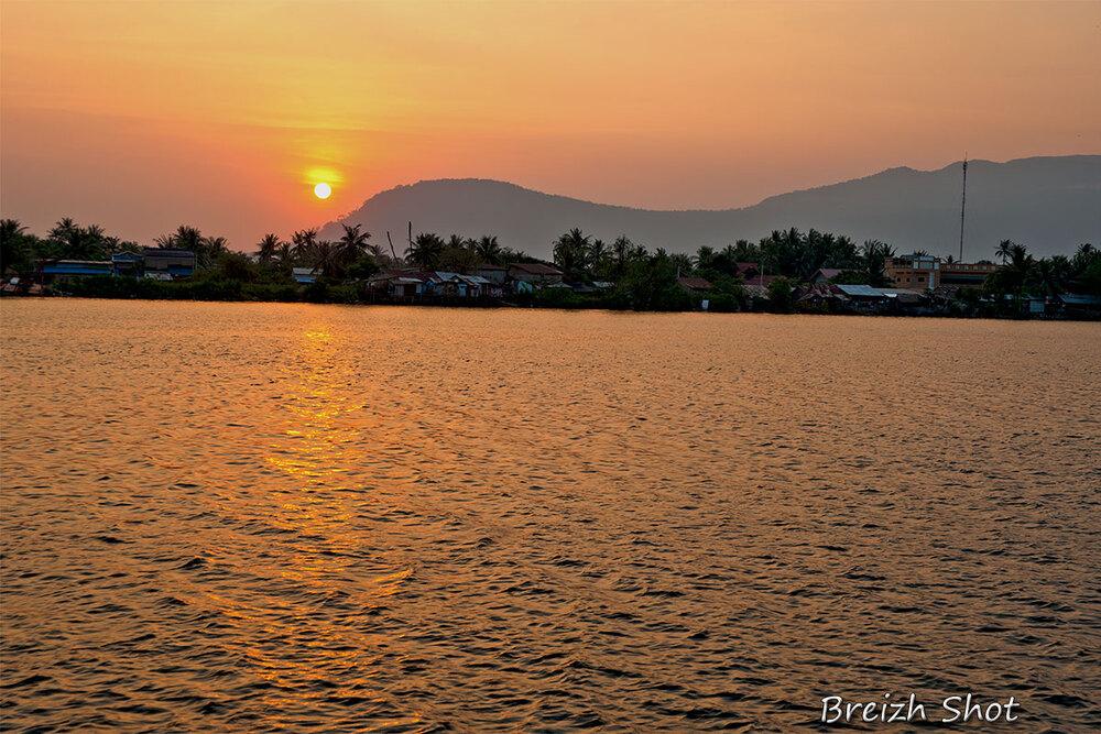 Kampot, un beau coucher de soleil