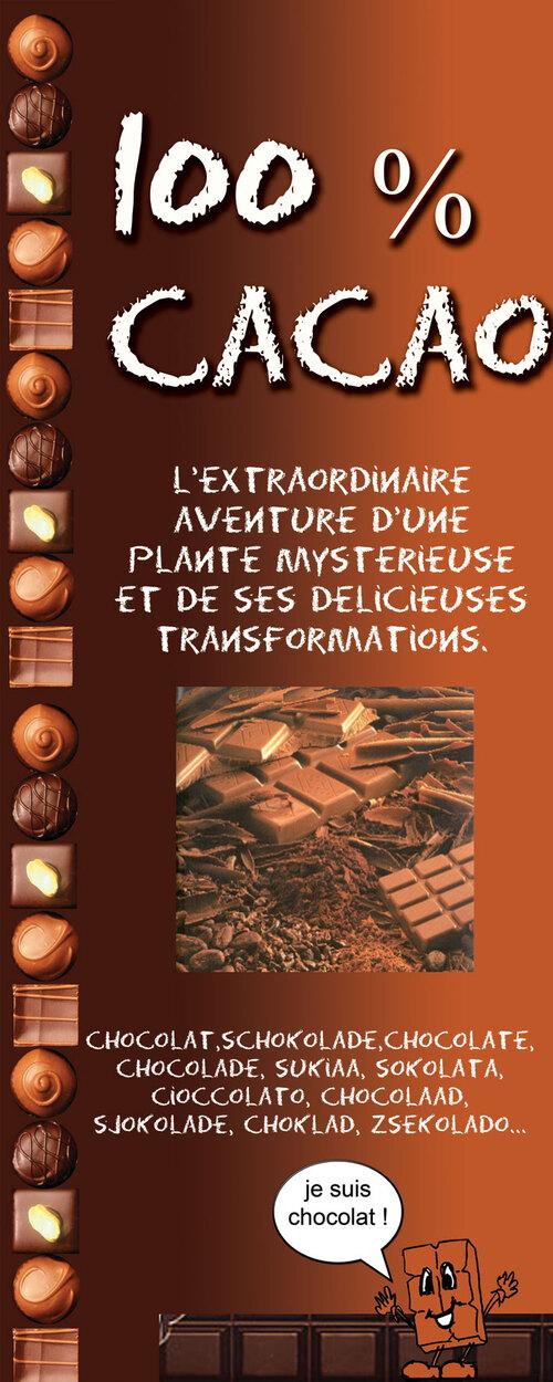Expositions en prêt cacao chocolat