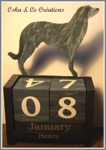 calendrier deerhound Henry