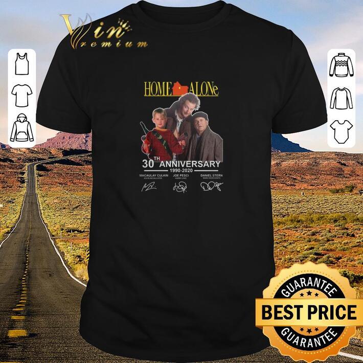 Original Home Alone 30th anniversary 1990-2020 Macaulay Culkin signatures shirt