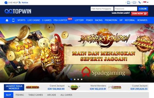 QQTopwin Bandar Judi Slot Online Memiliki Bonus Terbesar