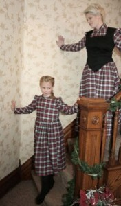 Robe en flanelle plaid femme
