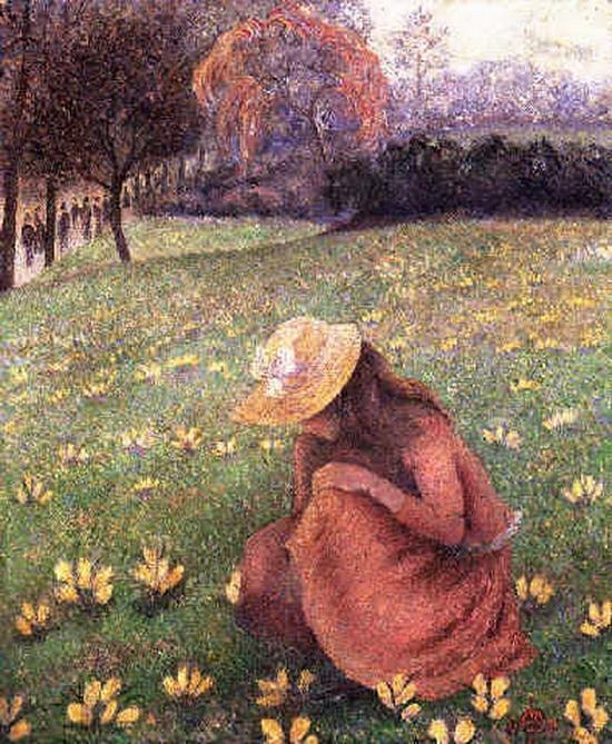 Lucien Pissarro, Les crocus