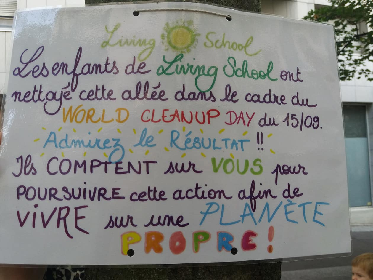 Living School pour le World Clean Up Day