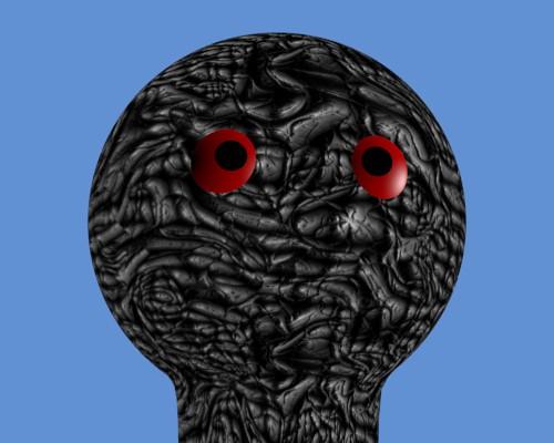 Une texture alien donne un aspect monstrueux à la sphère