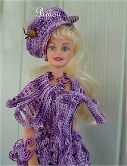 """Barbie  en robe crochet : La naissance du modèle """"Parisse"""""""