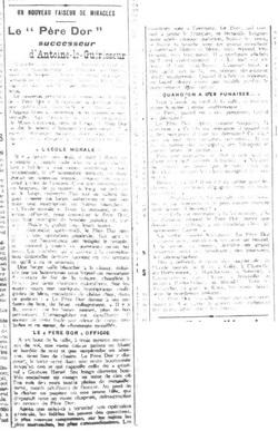 Le Père Dor, successeur (L'Égalité de Roubaix-Tourcoing, 11 janv 1913)
