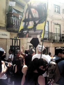 Lisbonne non conventionnelle: Autour du Rossio et manifestation