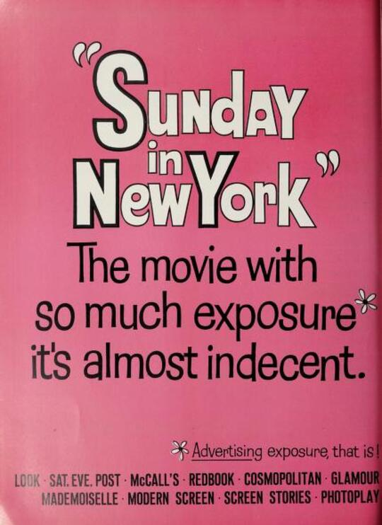 SUNDAY IN NEW YORK BOX OFFICE USA 1964