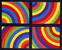 "Sol Lewitt "" color arcs in four direction"""