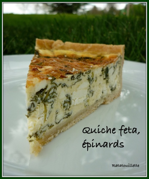 Quiche feta, épinards