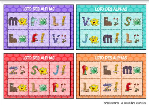 Loto des alphas syllabes simples