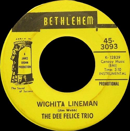 The Dee Felice Trio : Single SP Bethlehem Records 45-3093 [ US ]