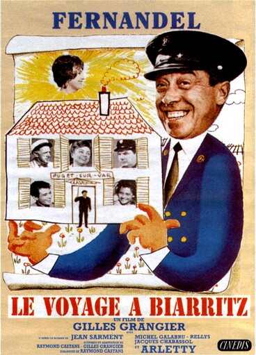 LE VOYAGE A BIARRITZ - FERNANDEL BOX OFFICE 1963