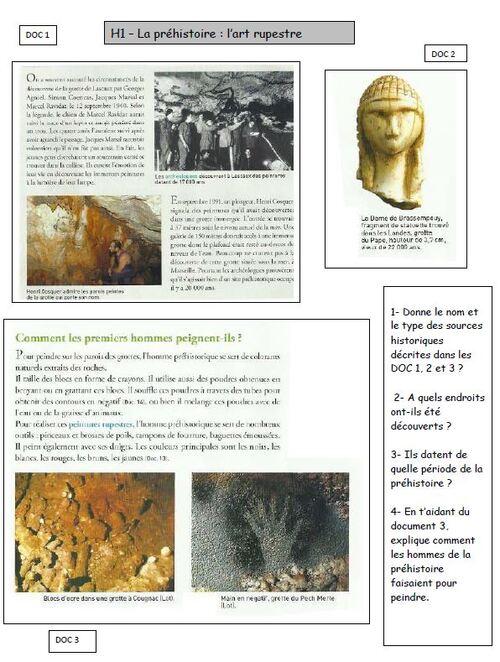 H1 - L'art rupestre