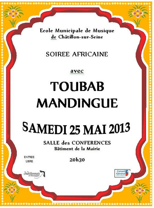 Concert de musiques Africaines