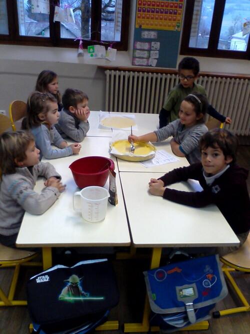 Atelier cuisine (Galette des rois) MS et Ce1