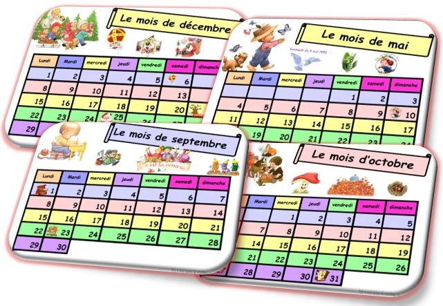 Le calendrier version Belgique.